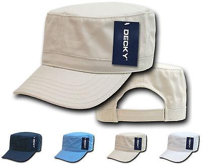 1 Dozen Washed Cotton Army GI BDU Military Cadet Castro Caps Hat Hats Wholesale