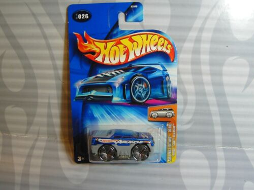 2004 HOT WHEELS first editions #026 = BLINGS CHEVY AVALANCHE = BLUE 0714C