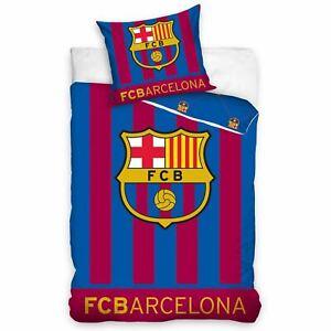 Fc-Barcelona-Brille-dans-le-Noir-Set-Housse-de-Couette-Simple-Coton-Ue-Taille