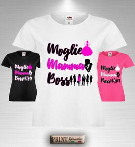 T Shirt Moglie Mamma Boss Idea Regalo Festa Della Mamma Compleanno