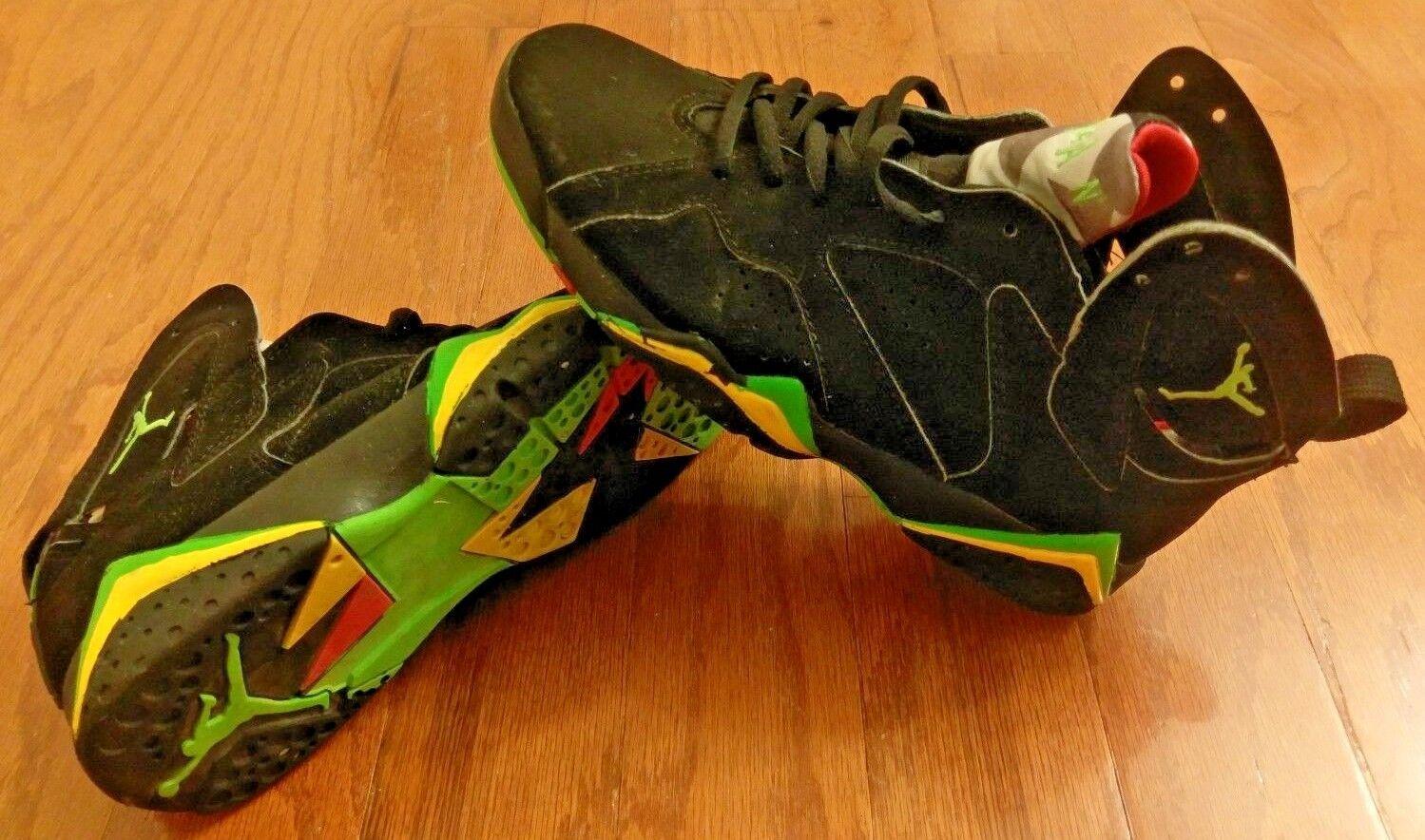 best loved ca539 4064f ... uk nike air jordan black vii 7 retro 304775 071 black jordan yellow  green size 6.5