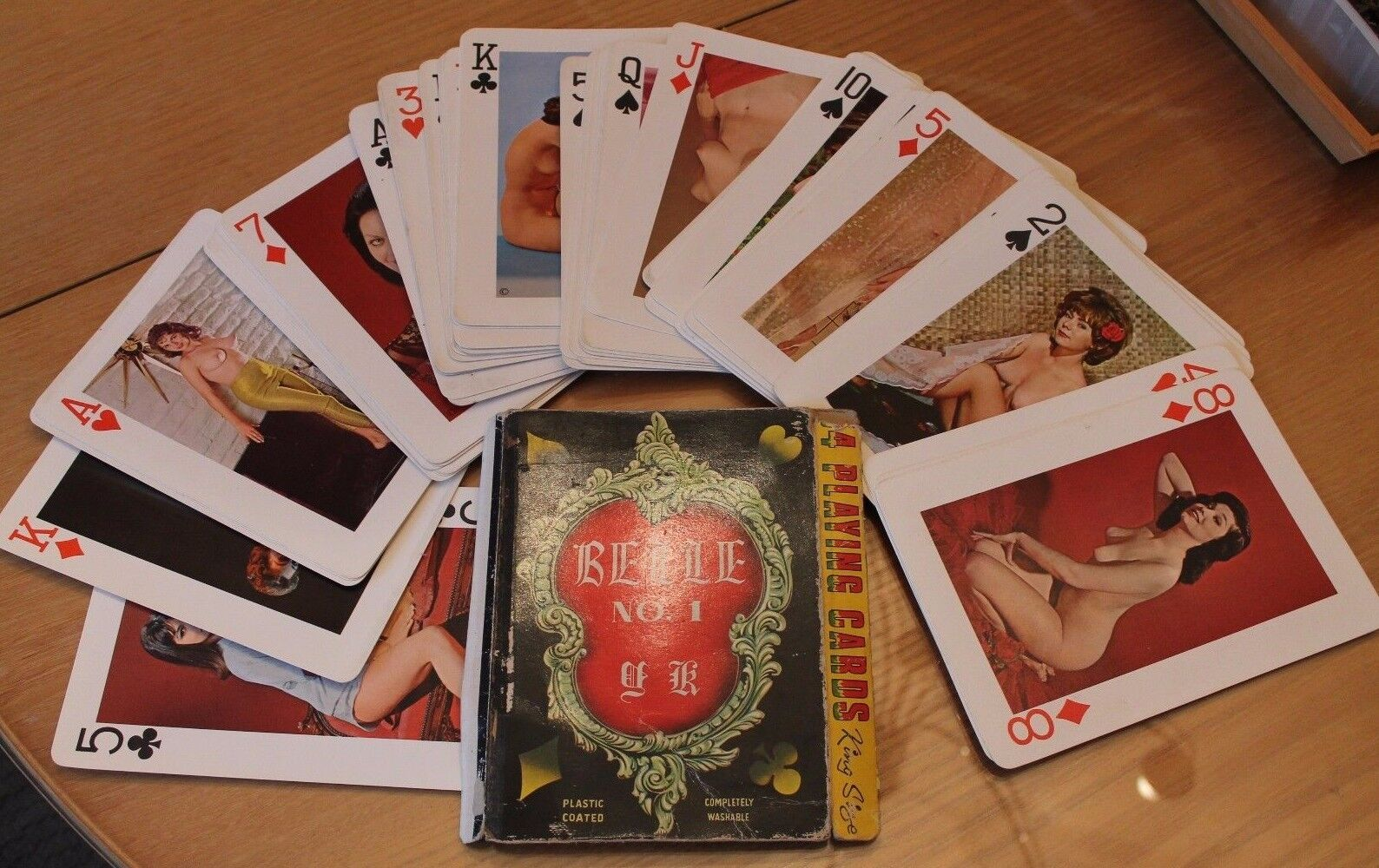 Vintage 54 playing cards belle n 1 king size (vast card games)