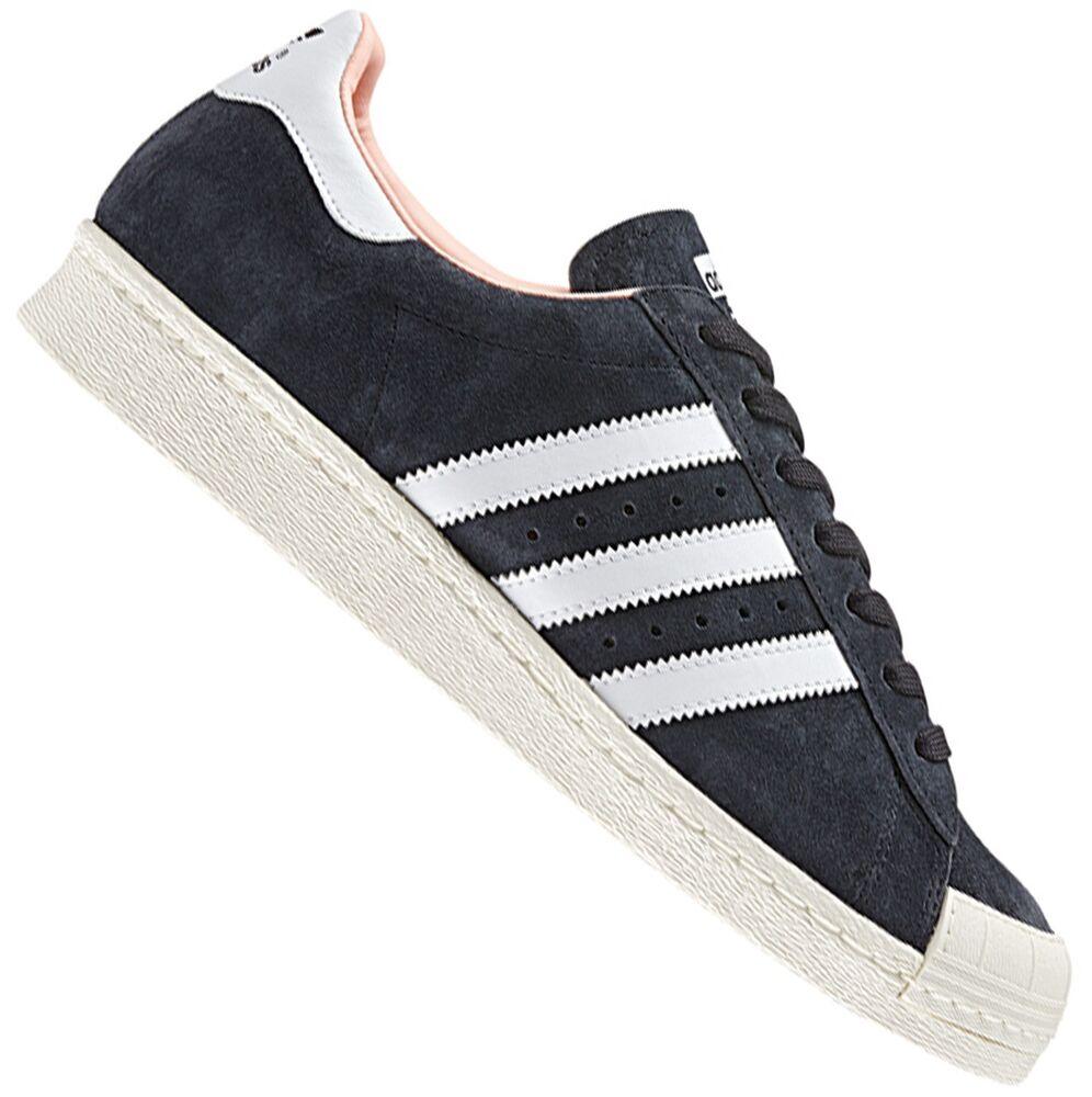 Adidas ORIGINALS superstar 80s Halfshell sneaker baskets en cuir noir 37 1/3-