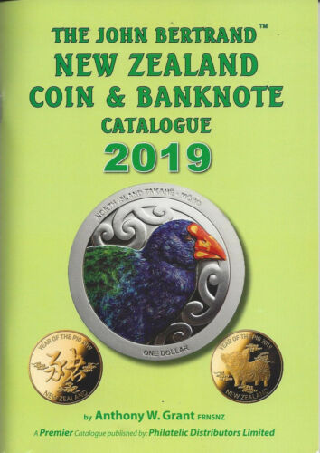 SIGNED BY AUTHOR Free Shipping 2019 JOHN BERTRAND NZ COIN /& BANKNOTE CATALOGUE