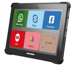 "BRONDI AMICO TABLET DISPLAY 10.1"" HD 8GB WI-FI 3G DUAL SIM ANDROID COLORE NERO"