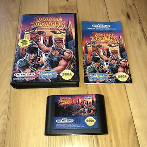 DOUBLE-DRAGON-3-THE-ARCADE-GAME-Sega-Genesis-Complete-in-Box-CIB-Rare-Authentic