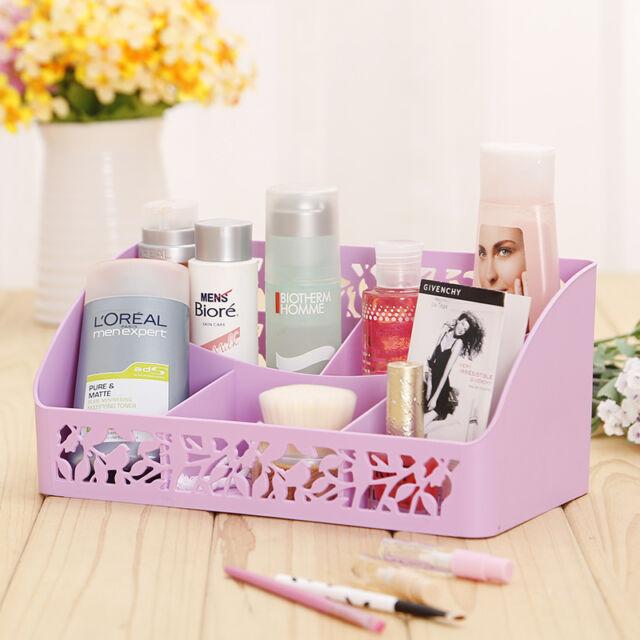 Fashion Desk Organizer Makeup Cosmetics Organizer Storage Box Stationery Holder