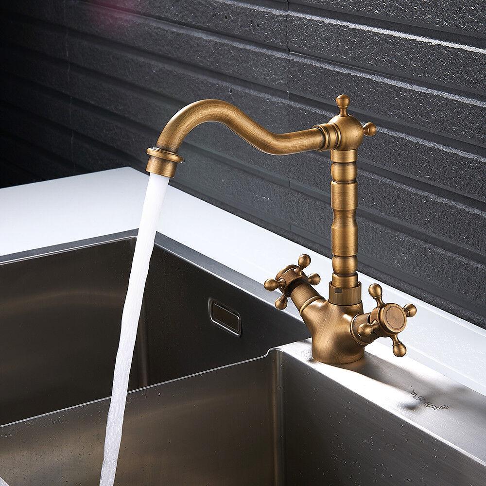 Rubinetto lavabo bagno cucina georgiano classico  ottone massiccio bronzo georgiano cucina NEW f0724e