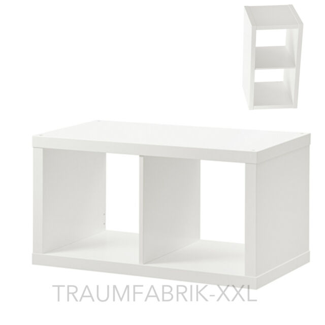 ikea kallax regal 77x42cm wandregal in weiss raumteiler b cherregal ebay. Black Bedroom Furniture Sets. Home Design Ideas