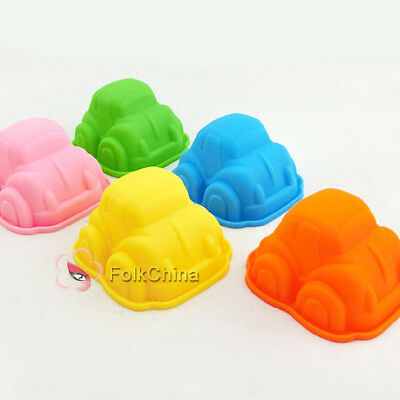Cute Auto Silicone Chocolate Cookie Muffin Cake Ice Jelly Soap Baking Mold Mould