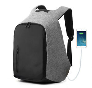 Travel-Anti-Theft-Backpack-External-USB-Charge-Port-Laptop-Notebook-School-Bag