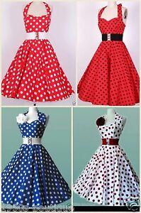 Rockabilly-S-Vintage-Swing-Party-Dress-Women-Evening-Retro-Style-1950-1950s-Size