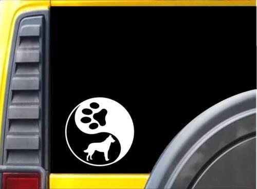 """Yin Yang Malinois L426 6 /"""" Chien Schutzhund Autocollant Décalque"""