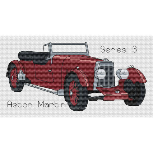 Aston Martin Series 3 Cross Stitch Design kit or chart