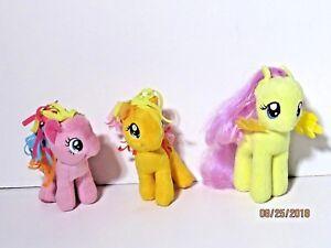My Little Pony Plush Lot of 3 Apple Jack Pinkie Pie