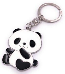 Panda-Oso-Llavero-Colgante-de-Metal