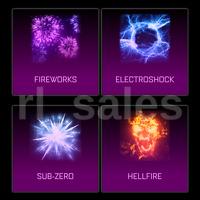 Rocket League Xbox One Hellfire Sub Zero Electroshock Fireworks Goal Explosion