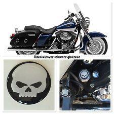 Road King Öldeckelcover schwarz Glänzend mit Skull