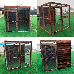 Details about Walk In Animal Run Enclosure 6FT Full Board 16G Dog Cat  Chicken Pet House Pen