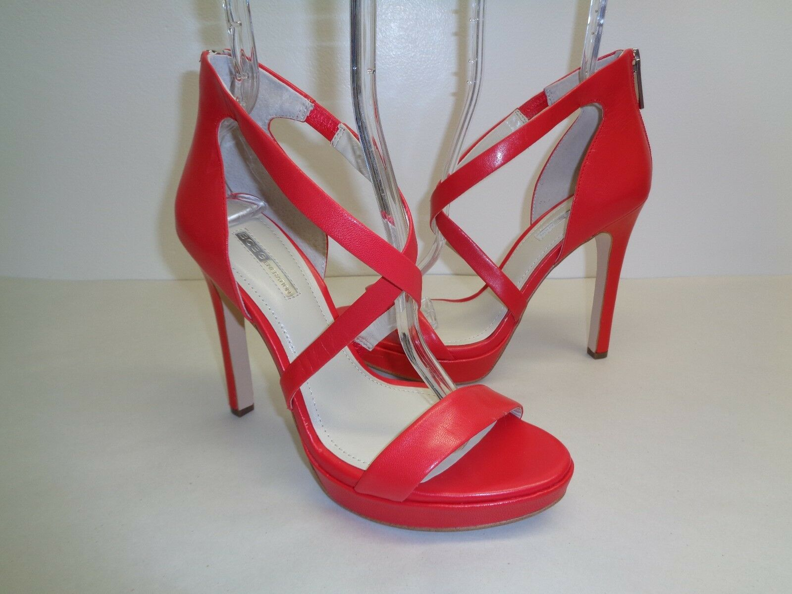 BCBGeneration BCBG Size 9.5 9.5 Size M GIDGET Passion Pelle Sandals New Donna Shoes 7dbb18