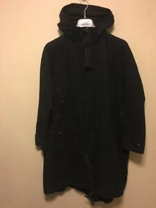 983ff7df34 ZARA MAN Long Jacket Parka hooded black Size M new | eBay