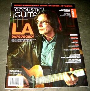 Acoustic Guitar May 2017 Jackson Browne LA Unplugged - how to play the blues