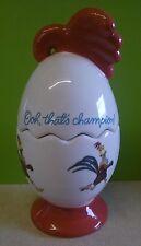 Chicken Run Aardman Rocky Rooster Ceramic Egg