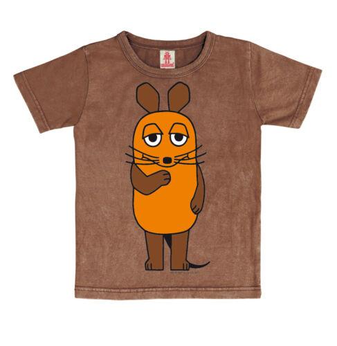 LOGOSHIRT-TV-la spedizione con il mouse-Mouse Bambini Vintage T-shirt Marrone