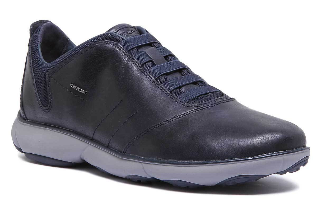 Geox Nebula Mens Leather Navy Low Trainers UK UK UK Größe 6 - 12    c797df