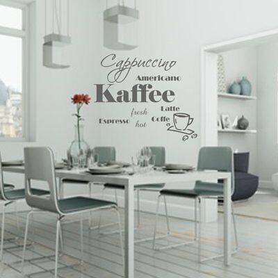 Wandschnörkel® AA050 Wandtattoo Wo die Liebe den Tisch deckt Küche Spruch