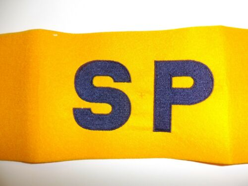 b3179 WW 2  US Navy Yellow Armband SP Shore Party IR32T