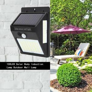 100LED-Lampada-Solare-Parete-Esterno-Giardino-con-Sensore-di-Movimento-Faretto