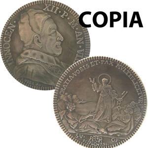 COPIA-moneta-collezione-VATICANO-Piastra-1698-Papa-Innocenzo-XII-GRATIA-VOBIS