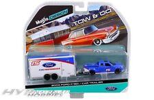 MAISTO 1:64 2004 FORD F-150/CAR TRAILER 15368-J