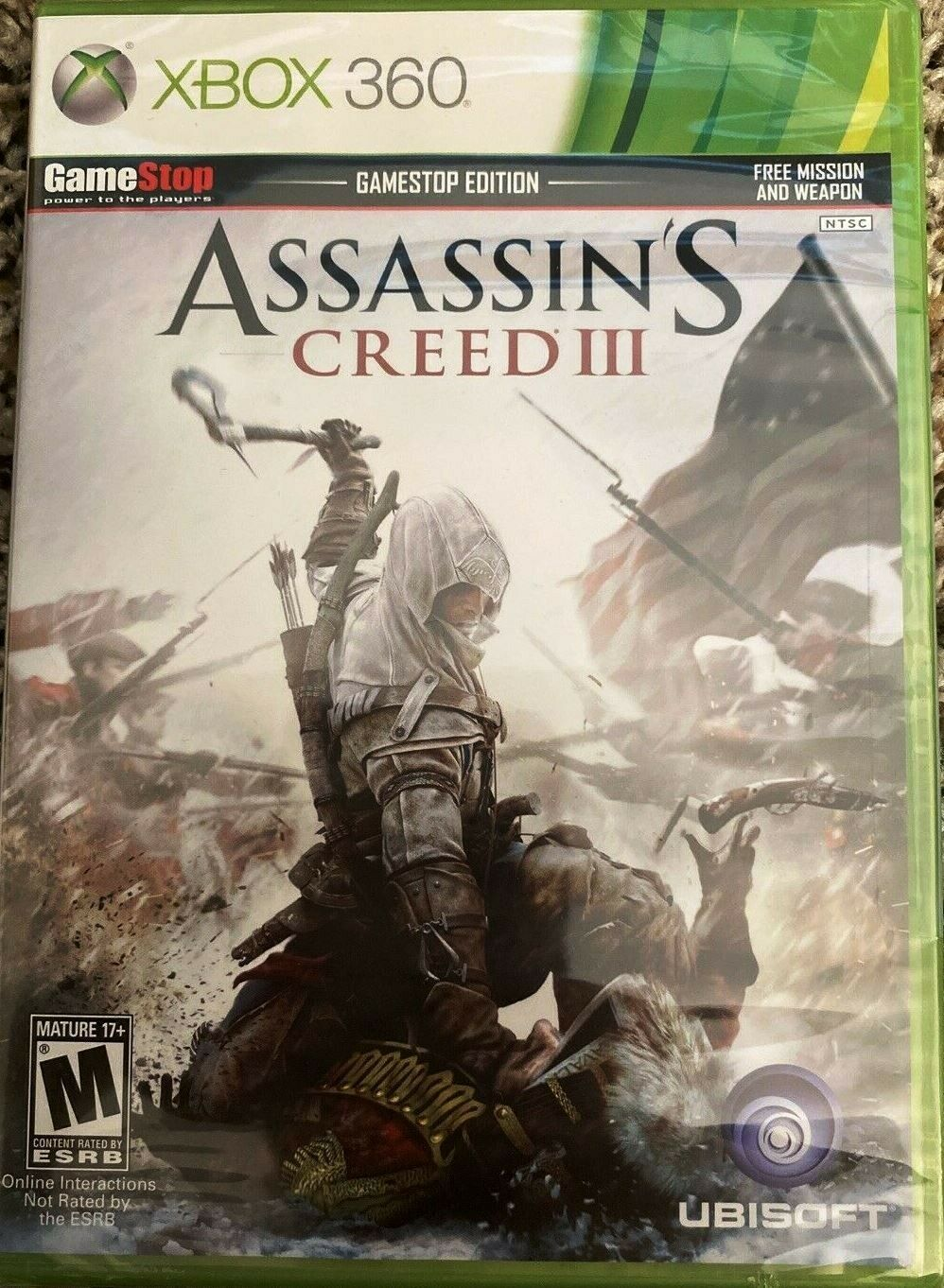 Assassin S Creed Iii 3 Xbox 360 Gamestop Edition For Sale Online Ebay