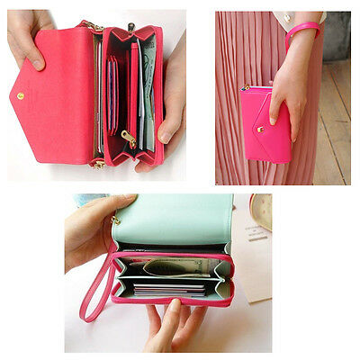 Elegant  Envelope Women Wallet 6 Colors PU Leather Wallet Long Lady Clutch Purse