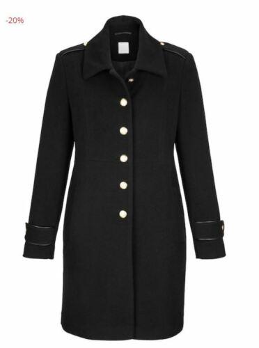Damen Wollmantel Winterjacke Kaschmir schwarz Trenchcoat Parker warm NEU /& OVP