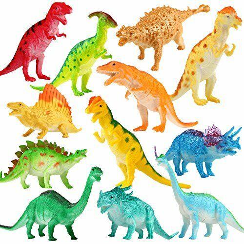 12 Pack Jumbo Dinosaure Toy Playset DINOSAUR FIGURE environ 17.78 cm assorties réaliste 7 in