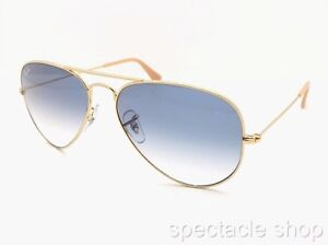 78c8e8720 Ray Ban Aviator 3025 001/3F Gold Blue Gradient New Authentic Italy ...