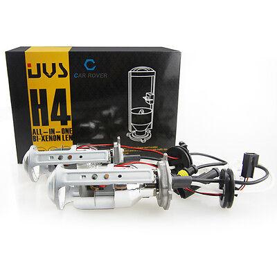 2X Car H4 Mini Lossless Bi-Xenon HID Projector Lens + 2x 55w Fast Bright Ballast