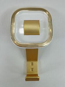 034-RETRO-034-Huthaken-Garderobenhaken-Kleiderhaken-Mantelhaken-Gold-Weiss