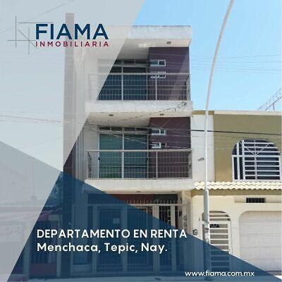 DEPARTAMENTO EN RENTA EN COL. MENCHACA, TEPIC (F)