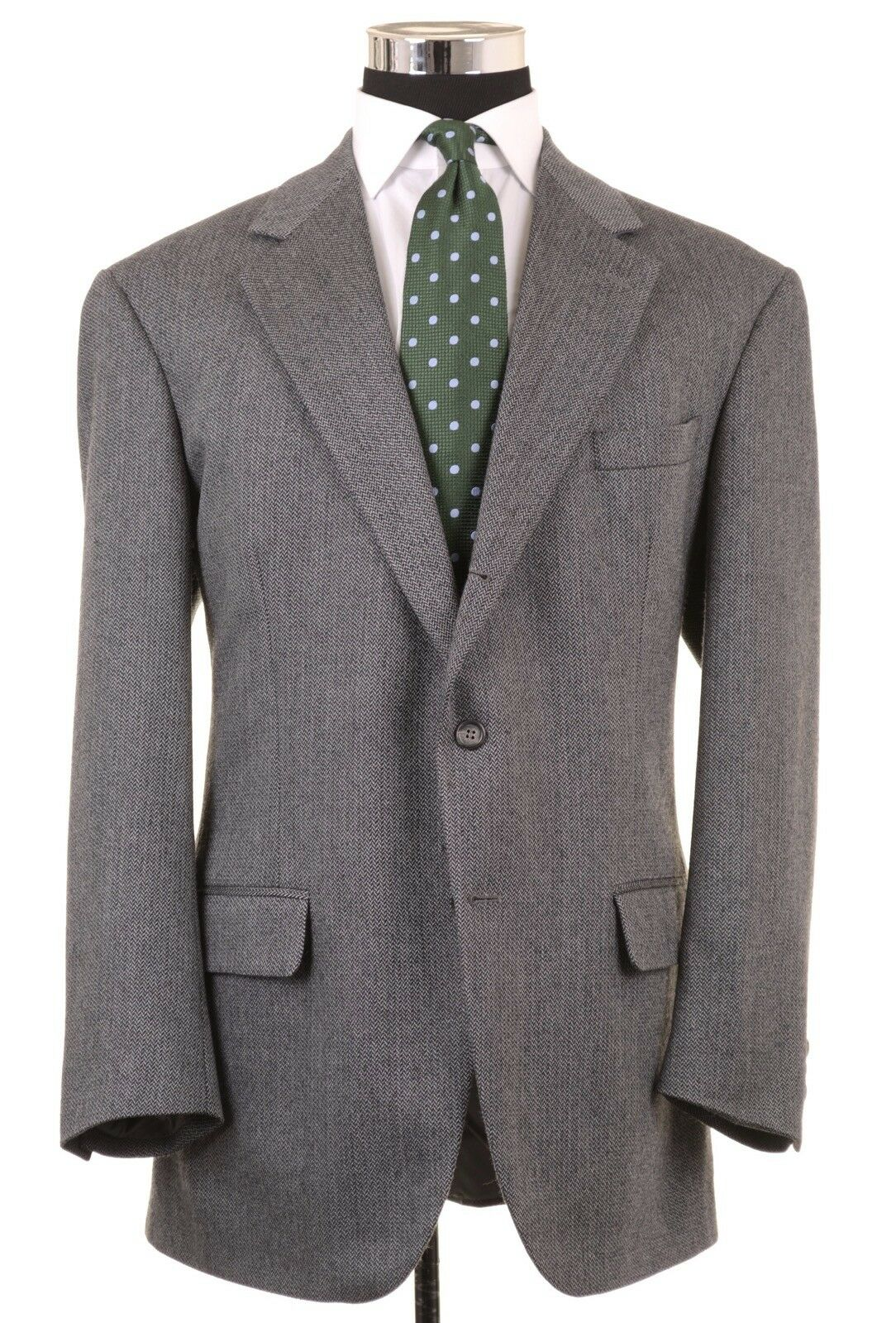 Brooks Brothers grau Herringbone Wool Sport Coat Blazer 44 R