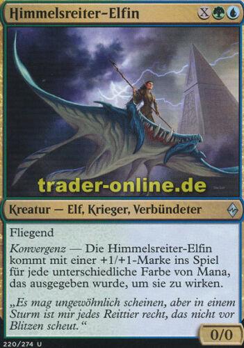 Skyrider Elf Battle for Zendikar Magic 2x Himmelsreiter-Elfin