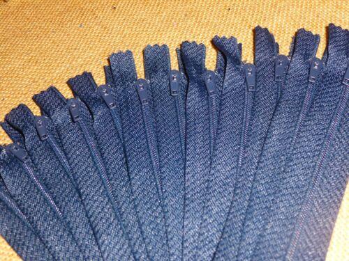 "Craft Zips Z6//NYS 15cm Closed End Dress 20 x Navy Blue  6/"""