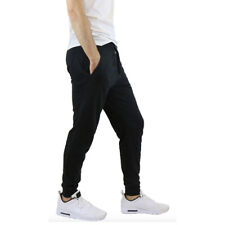 Mens French Terry Active Jogger Pants Sweatpants Lounge Sleep Gym S M L XL XXL