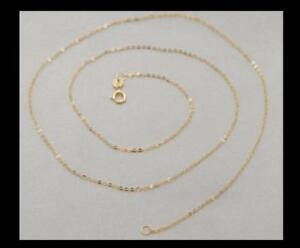 Wholesale-18K-SOLID-YELLOW-GOLD-NECKLACE-O-shaped-chain-Clavicular-chain-16-22