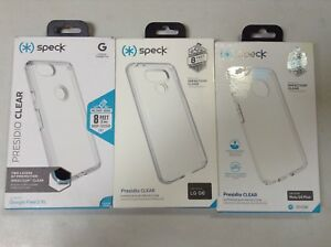 online store 793dc ebccd Details about Speck Presidio Clear Case For Moto G5 PLUS , LG G6, Google  Pixel 2 XL