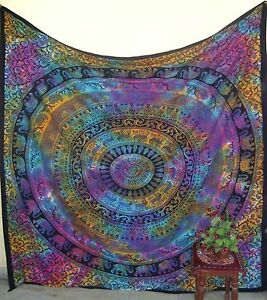 Indian-Vintage-Mandala-Throw-Wall-Hanging-Hippie-Home-Decor-Bohemian-Tapestry