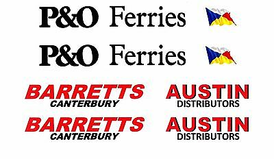 4 MODEL BUS WATERSLIDE TRANSFERS 1//76th DD SIDE ADVERTS FREMLINS LYLE KENT M/&D